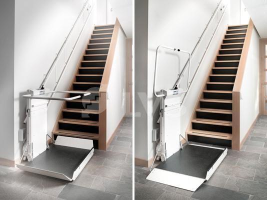 Delta plataforma salvaescalera plataformas sillas for Sillas de escaleras para minusvalidos