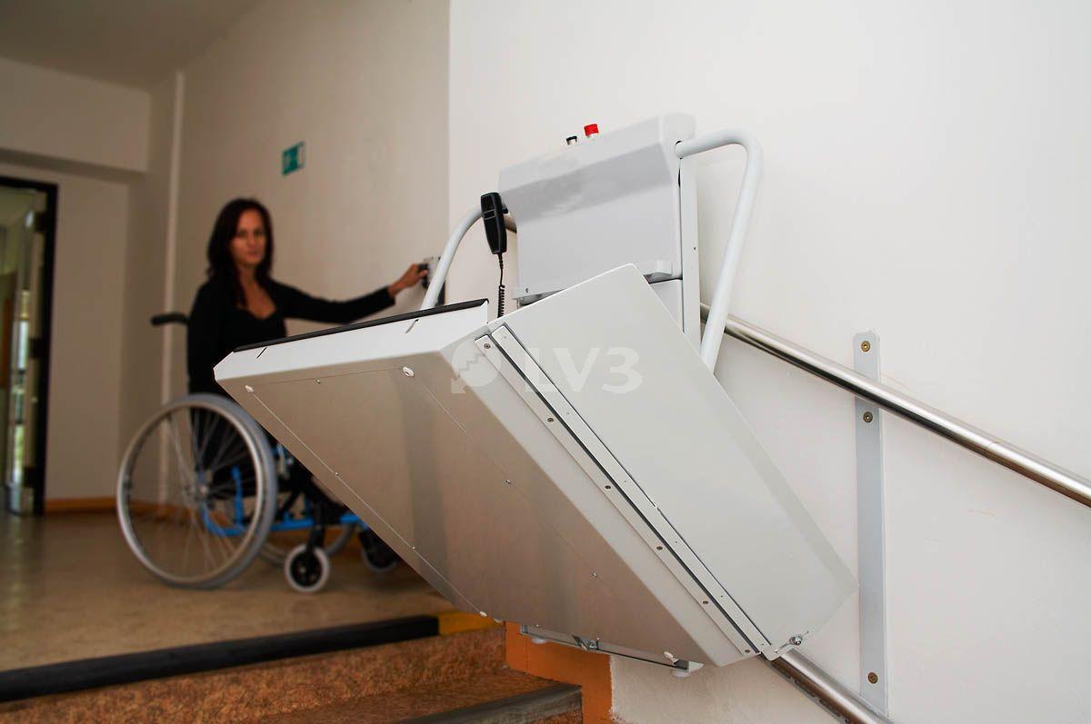 Delta plataforma salvaescalera plataformas sillas - Sillas salvaescaleras precios ...